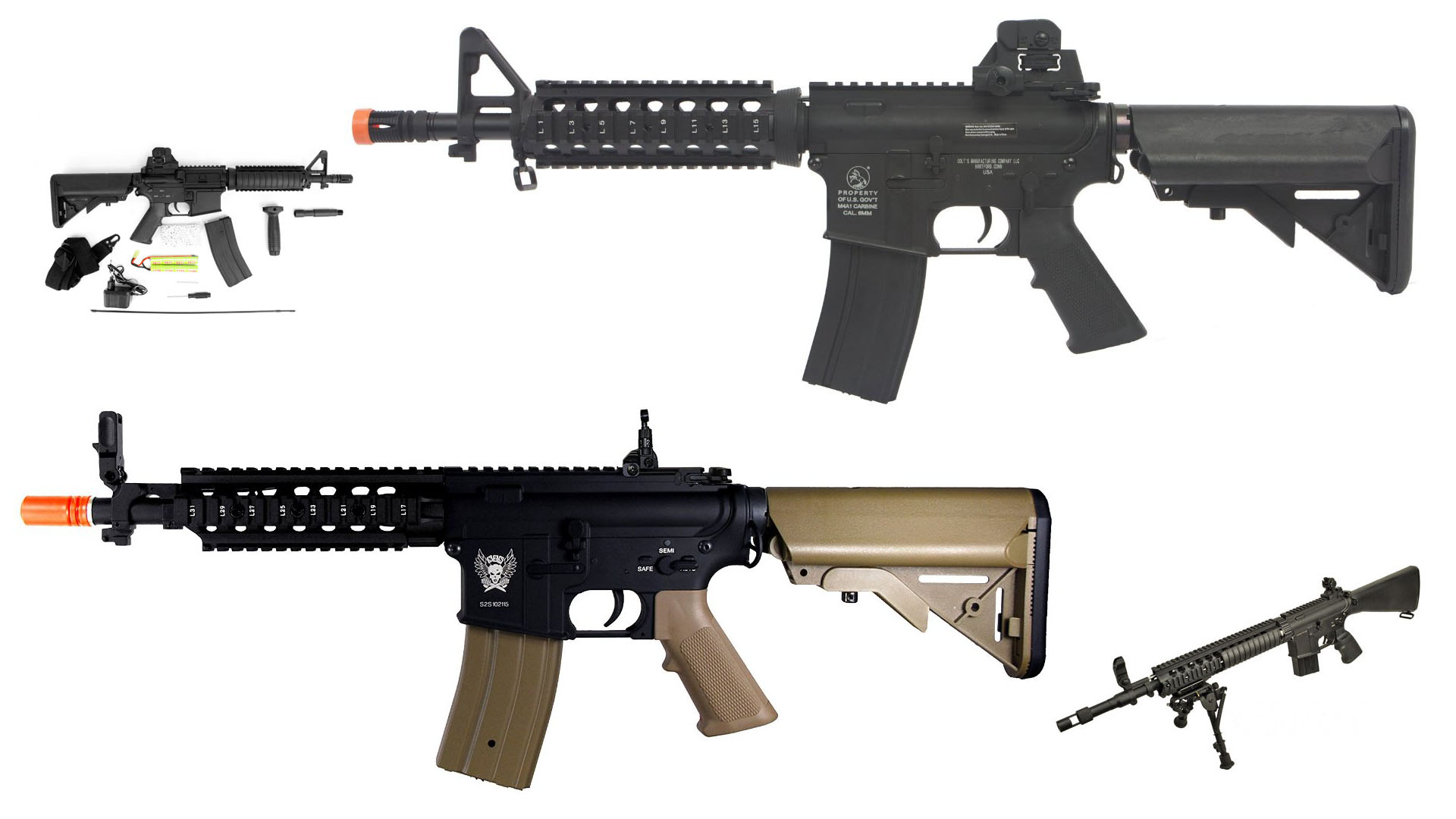 4 Cheap Full Metal Airsoft M4 AEGs for Beginners