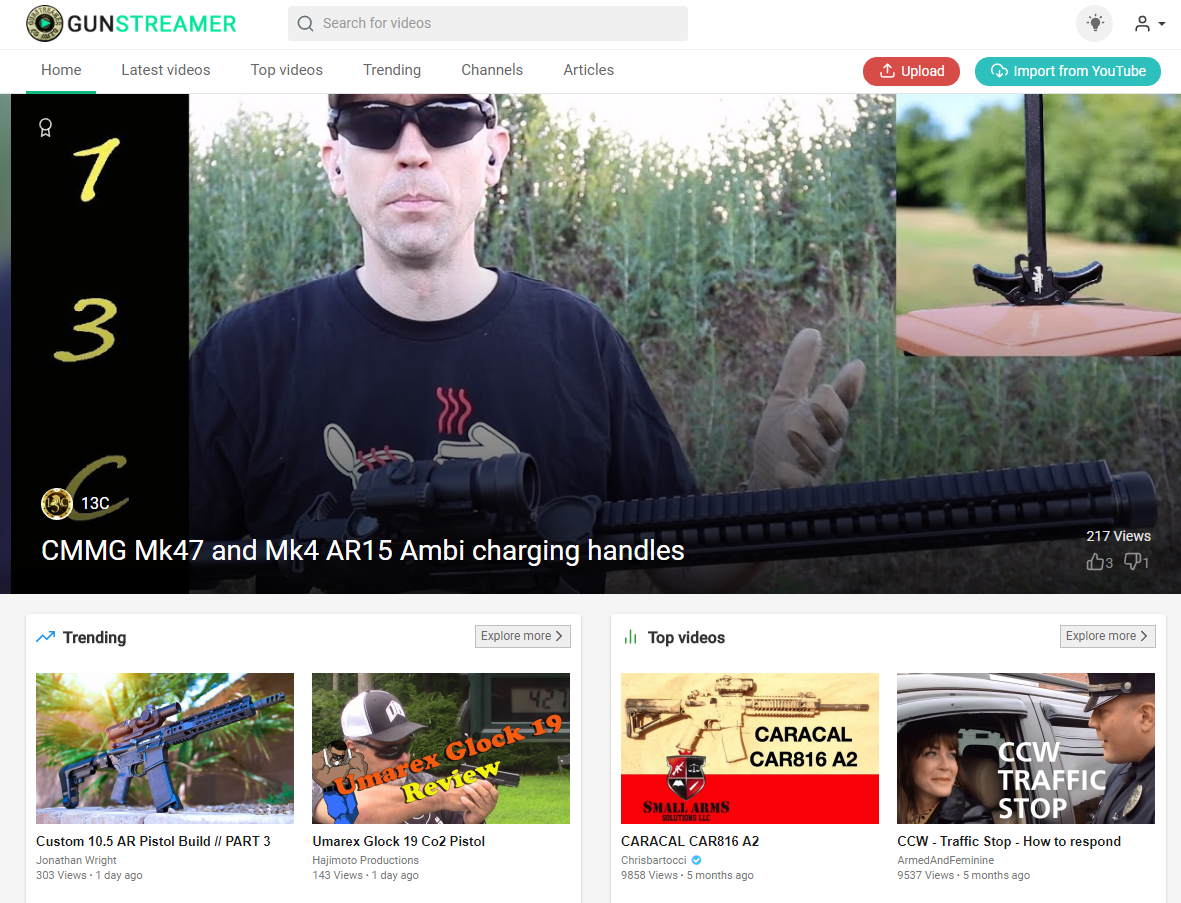 Top 5 Alternatives to YouTube for Gun and Firearms video Creators / Fans